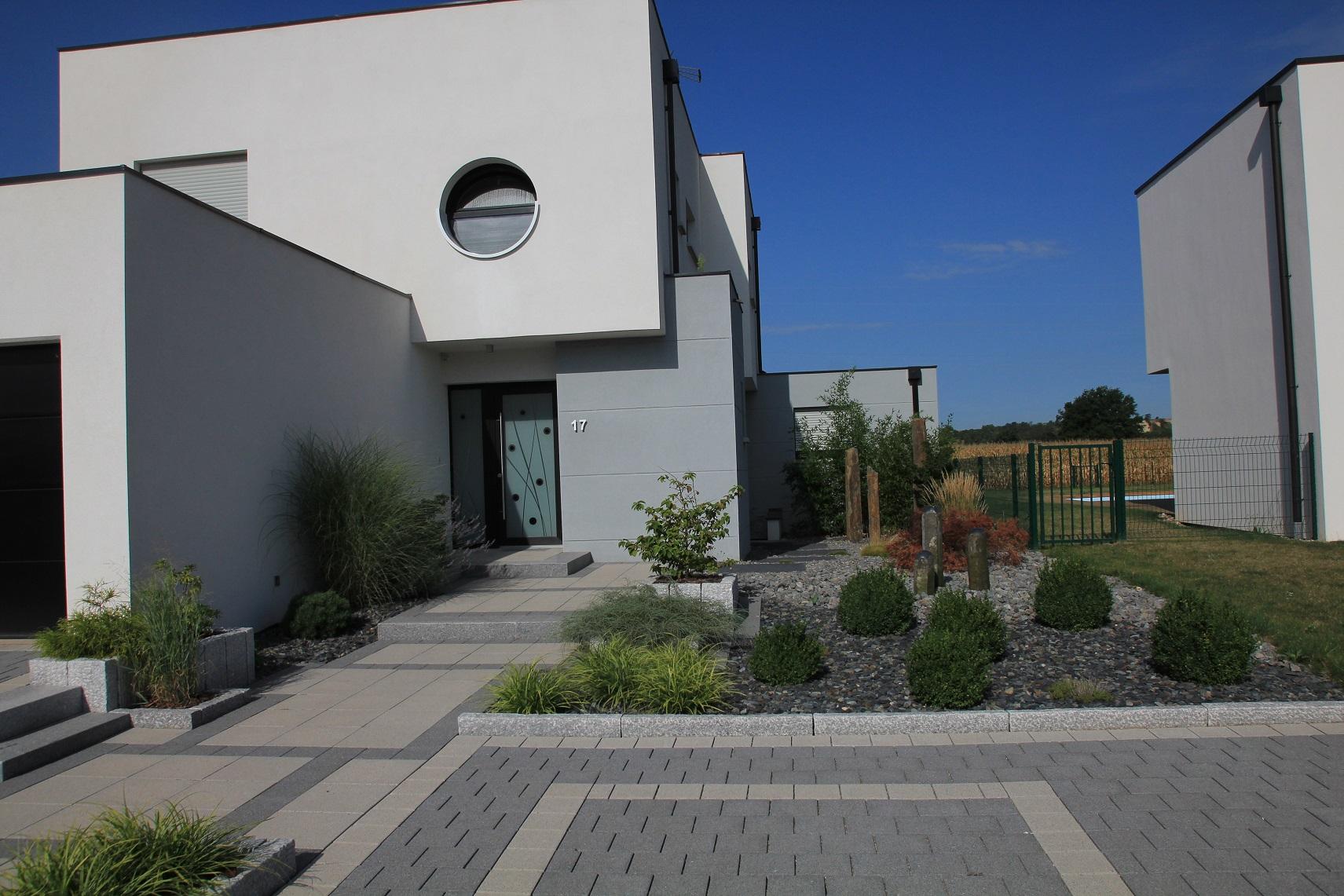 Allée, accès maison/ garage - fL Jardin Paysagiste dans la Marne